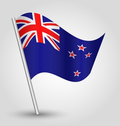 Flag new zealand vector