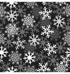 snow black pattern vector image vector image