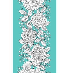 tea rose pattern vector image vector image