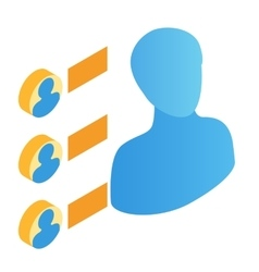 Transfer of persons isometric 3d icon vector image