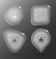 Bank glass buttons vector