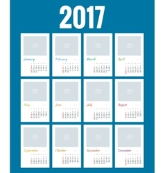 Calendar for 2017 vector image