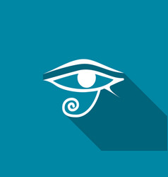 eye of horus with a long shadow vector image
