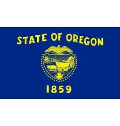 Flag of Oregon in correct size and colors vector image vector image