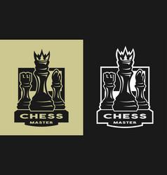 king bishop castle chess game emblem logo vector image vector image