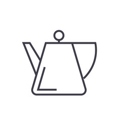 tea kettle spot line icon sign vector image vector image