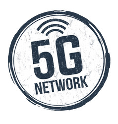 5g network sign or stamp vector image