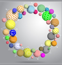 abstract multicolor balls background 3d vector image