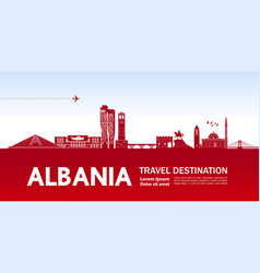 Albania travel destination vector