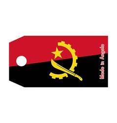 Angola flag on price tag vector