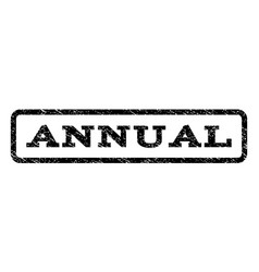 Annual watermark stamp vector