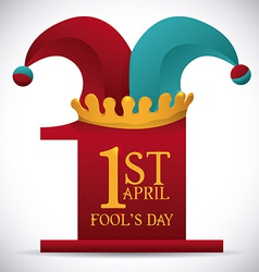 April fools day design vector image