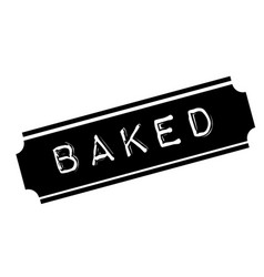 Baked black stamp vector