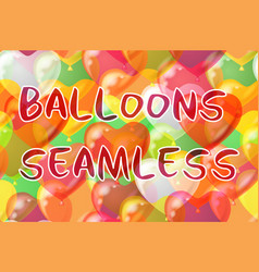balloons hearts seamless background vector image