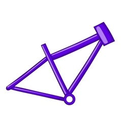 Bicycle frame icon cartoon style vector image