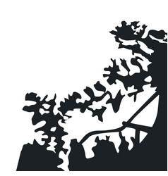 black silhouette shadows from trees and branches vector image