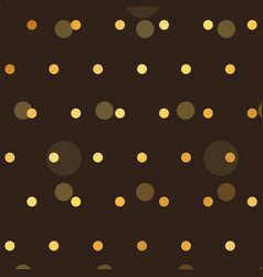 brown background with golden polka style dots vector image