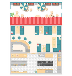 Cafe elements - modern colorful vector