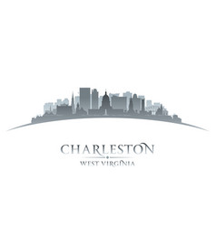 charleston west virginia city silhouette white vector image