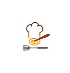 chef fusion logo vector image