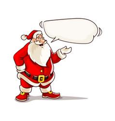 christmas santa claus speaking vector image