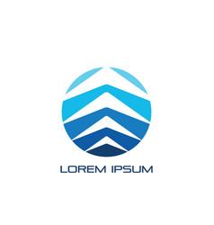 Circle arrow layered business logo vector