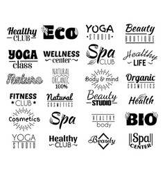 collection logo and labels badges for healthy vector image