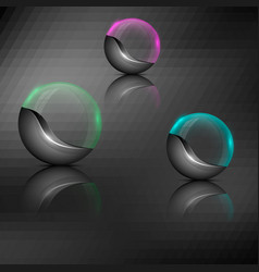 Colorful orb emblems vector