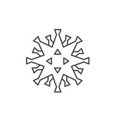 coronavirus icon virus line icons on white vector image
