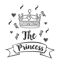 crown style hand draw doodle collection vector image vector image