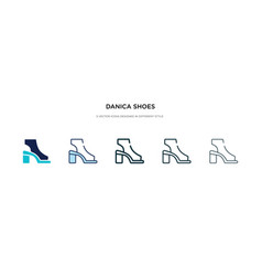 Danica shoes icon in different style two colored vector