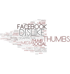 Dislike word cloud concept vector