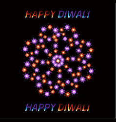 Diwali the indian festival of lights greeting vector