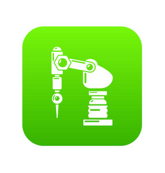 Drilling machine icon simple style vector