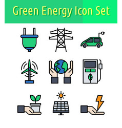 energy color icon set vector image
