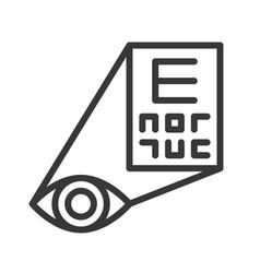 Eye examination or optometry outline icon vector