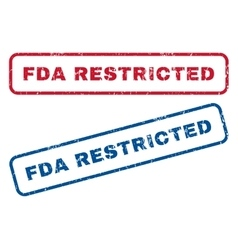 FDA Restricted Rubber Stamps vector