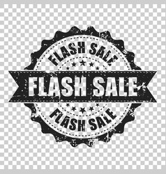 flash sale scratch grunge rubber stamp on vector image