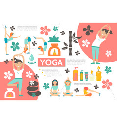 flat yoga infographic template vector image