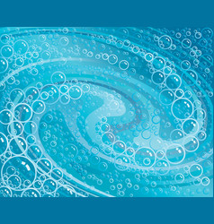 foam swirled vector image