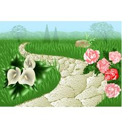 garden path vector image