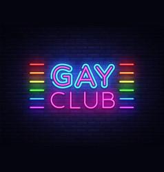 Gay club neon sign club design vector