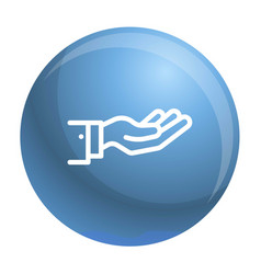 give hand icon outline style vector image