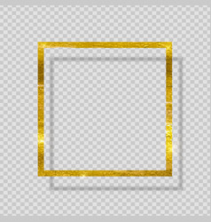 gold paint glittering textured frame vector image