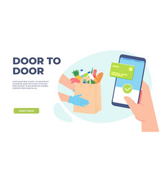 grocery delivery online order from supermarket vector image