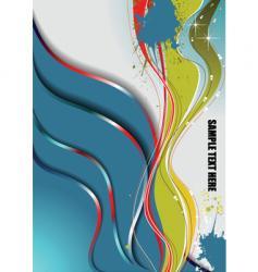 grunge wave background vector image