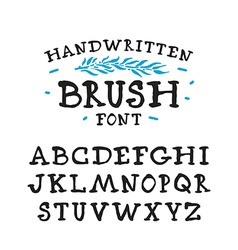 Handwritten brush serif font vector
