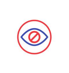 hide hidden content icon vector image