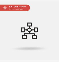 Hierarchical structure simple icon vector