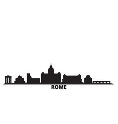 Italy rome city city skyline isolated vector